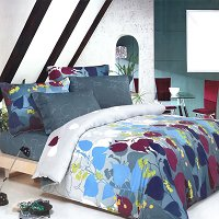 Grapevine Leisure, 100% Cotton 5PC MEGA Duvet Cover Set (Twin Size)